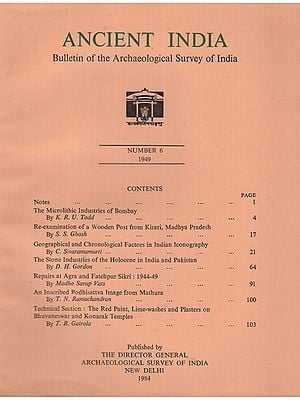 Ancient India- Bulletin of the Archaeological Survey of India (Number 6)
