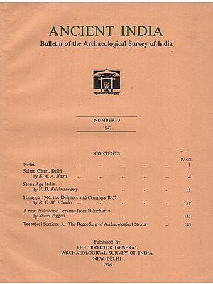 Ancient India- Bulletin of the Archaeological Survey of India (Number 3)