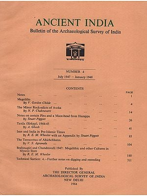 Ancient India- Bulletin of the Archaeological Survey of India (Number 4)