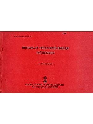 Brokskat-Urdu-Hindi-English Dictionary