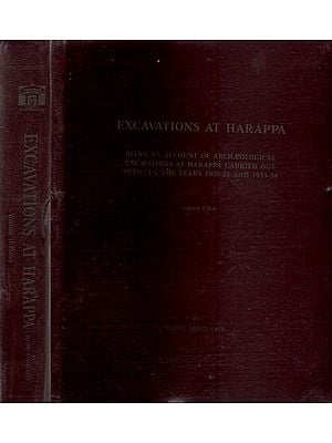 Excavations At Harappa - Set of 2 Volumes (An Old and Rare Book)