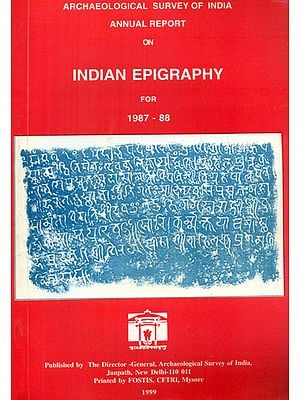 Annual Report on Indian Epigraphy for 1987-88