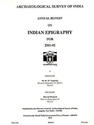 Annual Report on Indian Epigraphy for 2001-02