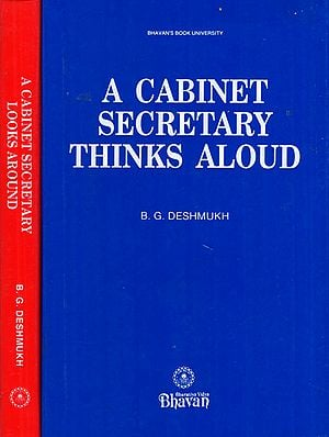 A Cabinet Secretary Thinks and Looks Around- Set of 2 Volumes (An Old and Rare Book)