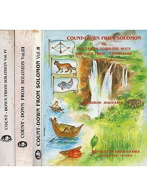 Count-Down From Solomon Or The Tamils Down The Ages Through their Literature- Set of Four Volumes (An Old and Rare Book)
