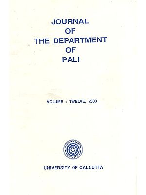 Journal of the Department of Pali (Volume : Twelve, 2003)