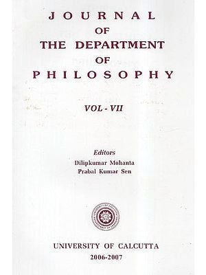 Journal of the Department of Philosophy: Vol- VII (2006-2007)