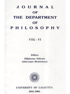 Journal of the Department of Philosophy: Vol- VI (2005-2006)
