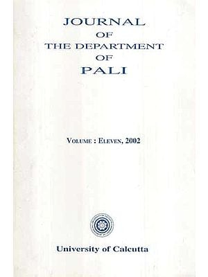 Journal of The Department of Pali (Vol-XI, 2002)