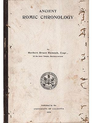Ancient Romic Chronology (An Old and Rare Book and Pin Holed)