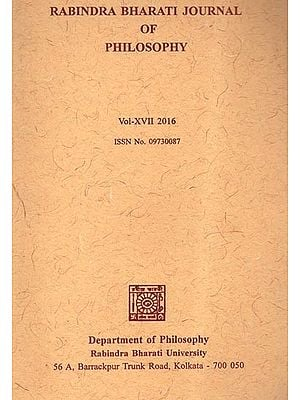 Rabindra Bharati Journal of Philosophy: Vol-XVII (2016)