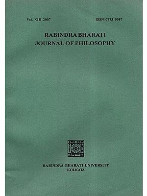 Rabindra Bharati Journal of Philosophy: Vol.XIII- 2007 (An Old and Rare Book)