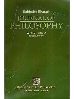 Rabindra Bharati Journal of Philosophy: Vol-XIV, 2008-09 (An Old and Rare Book)