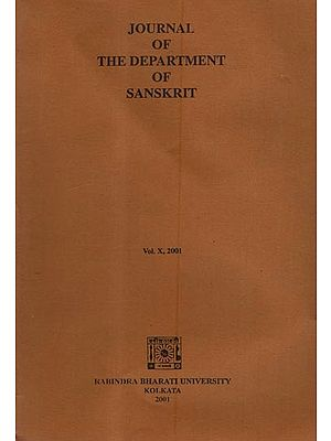 Journal of the Department of Sanskrit: Vol.X- 2001 (An Old and Rare Book)
