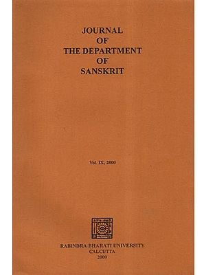 Journal of the Department of Sanskrit: Vol. IX- 2000 (An Old and Rare Book)