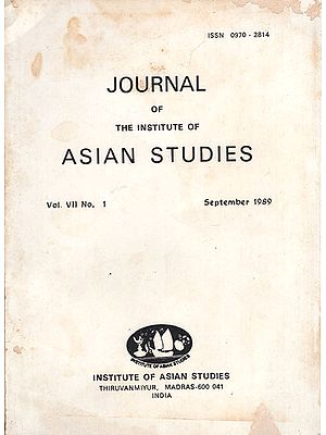 Journal of The Institute of Asian Studies- Vol. VII (An Old and Rare Book)