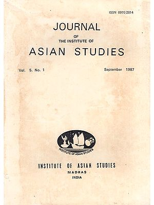 Journal of The Institute of Asian Studies- Vol. 5, No.1- September 1987 (An Old and Rare Book)