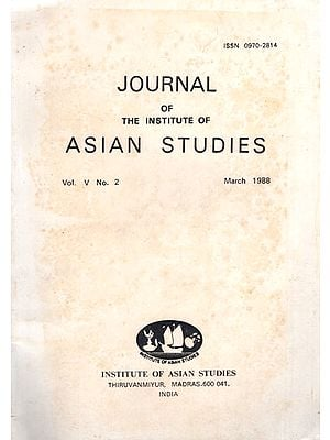 Journal of The Institute of Asian Studies- Vol. V, No. 2- March 1988 (An Old and Rare Book)