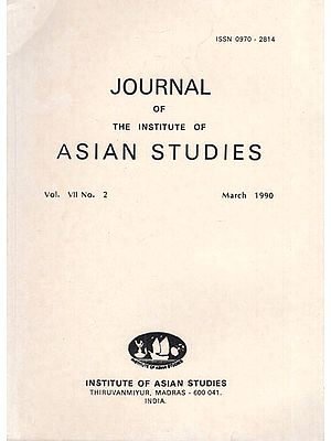 Journal of The Institute of Asian Studies- Vol. VII, No. 2- March 1990 (An Old and Rare Book)