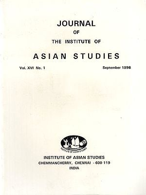 Journal of The Institute of Asian Studies- Vol. XVI, No. 1- September 1998 (An Old Book)