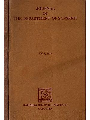 Journal of The Department of Sanskrit- Set of Two Volumes (An Old Book)
