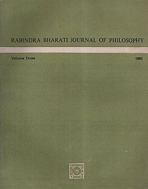 Rabindra Bharati Journal of Philosophy: Volume Three, 1992 (An Old and Rare Book)
