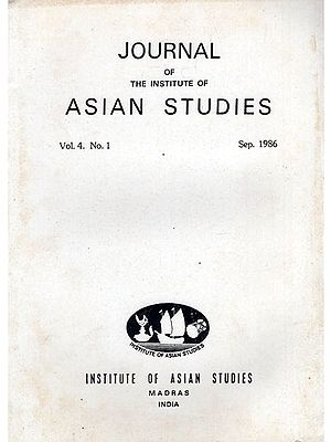 Journal of The Institute of Asian Studies- Vol. 4 No. 1- September 1986 (An Old and Rare Book)