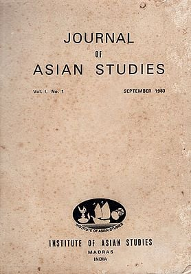 Journal of Asian Studies- Vol. 1, No. 1 September 1983 (An Old and Rare Book)