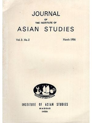 Journal of The Institute of Asian Studies- Vol. 3. No. 2- March 1986 (An Old and Rare Book)