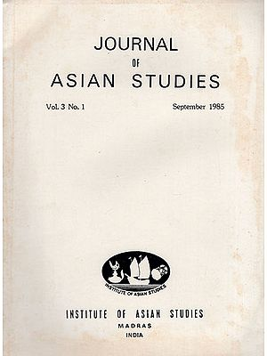 Journal of Asian Studies- Vol. 3 No. 1- September 1985 (An Old and Rare Book)