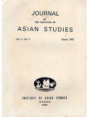 Journal of The Institute of Asian Studies- Vol. 4. No. 2- March 1987 (An Old and Rare Book)