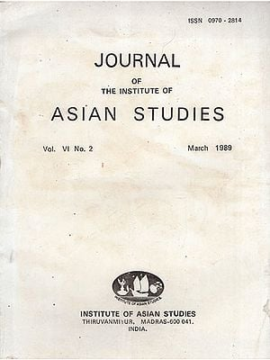 Journal of The Institute of Asian Studies- Vol. VI. No. 2- March 1989 (An Old and Rare Book)