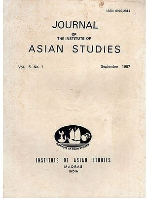 Journal of The Institute of Asian Studies- Vol. 5. No. 1- September 1987 (An Old and Rare Book)