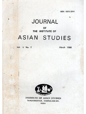 Journal of The Institute of Asian Studies- Vol. V. No. 2- March 1988 (An Old and Rare Book)