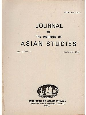 Journal of The Institute of Asian Studies- Vol. IX, No. 1- September 1991 (An Old and Rare Book)