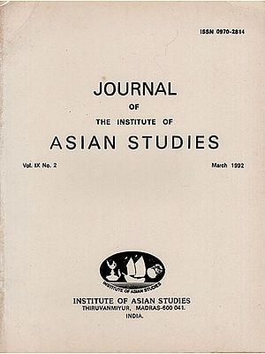 Journal of The Institute of Asian Studies- Vol. IX, No. 2- March 1992 (An Old and Rare Book)