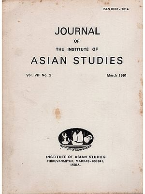 Journal of The Institute of Asian Studies- Vol. VIII, No. 2- March 1991 (An Old and Rare Book)