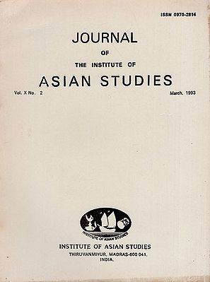 Journal of The Institute of Asian Studies- Vol. X, No. 2- March 1993 (An Old and Rare BooK)