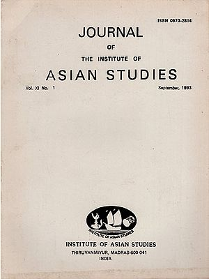 Journal of The Institute of Asian Studies- Vol. XI, No.1- September 1993 (An Old and Rare Book)