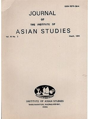 Journal of The Institute of Asian Studies- Vol. XI, No. 2- March 1994 (An Old and Rare Book)