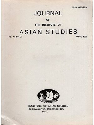 Journal of The Institute of Asian Studies- Vol. XII, No. 02- March 1995 (An Old and Rare Book)