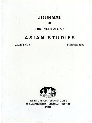 Journal of The Institute of Asian Studies- Vol. XVII, No. 1- September 1999 (An Old Book)