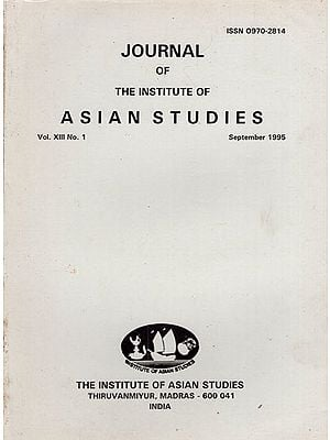 Journal of The institute of Asian Studies- Vol. XIII, No. 1- September 1995 (An Old and Rare Book)