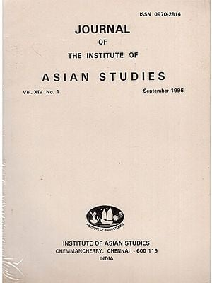 Journal of The Institute of Asian Studies- Vol. XIV, No. 1- September 1996 (An Old and Rare Book)