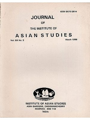Journal of The Institute of Asian Studies- Vol. XIII, No. 2- March 1996 (An Old and Rare Book)