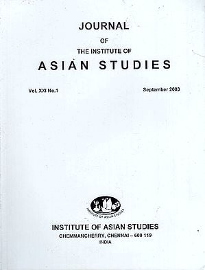 Journal of The Institute of Asian Studies- Vol. XXI, No. 1- September 2003 (An Old Book)