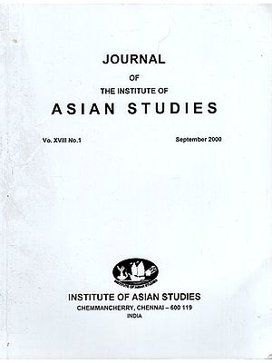 Journal of The Institute of Asian Studies- Vo. XVIII, No. 1- September 2000