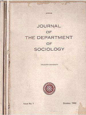 Journal of The Department of Sociology- Set of 4 Volumes  (An Old and Rare Book)