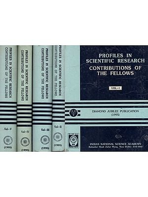 Profiles In Scientific Research Contributions Of The Fellows- An Old Book (Set Of 5 Volumes)