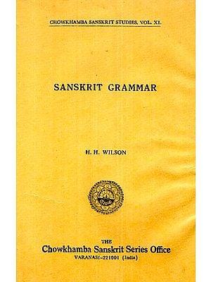 Sanskrit Grammar (An Old and Rare Book)